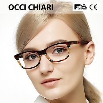 1ef107ee38 Gafas ópticas OCCI CHIARI montura gafas ópticas para mujer monturas gafas  de acetato llanta completa Gafas de moda CEINO femenino