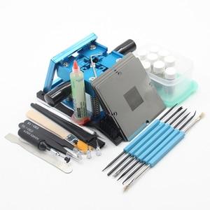 Image 2 - BGA fixtures 90x90 Reballing Station Reballing Bga Sik tin template solder paste soldering flux for Laptop Gameconsole