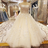 LS73362 special wedding dresses lace ball gown corset back wedding gowns 2017 robe de mariage real photos