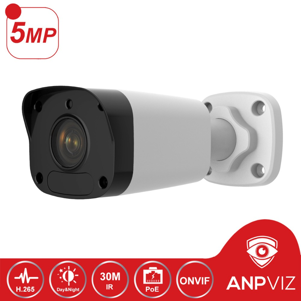 5MP PoE IP Camera Outdoor Fixed Lens CCTV Video Surveillance Mini Bullet Camera 30m IR 3