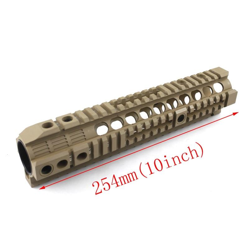 New style High Quality 10inch Handguard rail for Airsoft AEG M4/M16 BK TAN