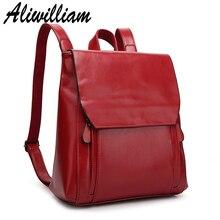 Оригинальный aliwilliam Пояса из натуральной кожи Для женщин рюкзак 2017 Винтаж Рюкзаки дамы Обувь для девочек Школьные сумки для подростков студенты рюкзак