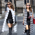 2016 winter fur women  vest ultra long size  fashion slim vest fox fur imitation fur lengthen Plush vest