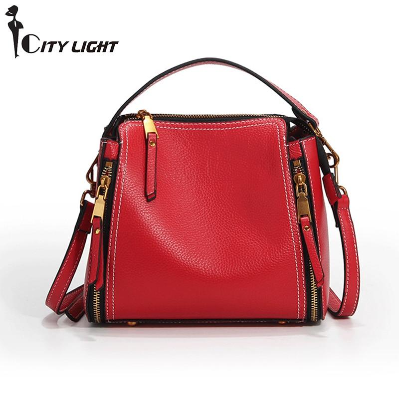 High grade women s Genuine Leather bag ladies Shoulder Bags women messenger bags female Luxury Flap