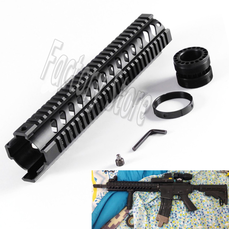 Hunting AR-15 M4  Handguard Rifles 12Free Float Quad Picatinny Weaver Rail Mounting System Key-mod On Standard Carbine Length 12 durable mil spec style matte finish lightweight aluminium handguard picatinny quad hunting shooting rail for aeg m4 m16 ar15