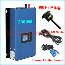 2000W Battery Discharge Power Mode/MPPT Solar Grid Tie Inverter 2KW with Limiter Sensor DC 45 90V AC 220V 230V 240V PV connected