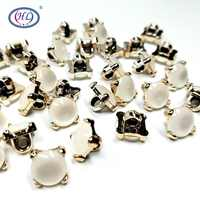 HL 30pcs/package 10MM Shank With Stone Plating Buttons Shirt Sweater Apparel Sewing Accessories Crafts