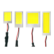 1 Piece W5W T10 C3W C5W C10W BA9S Festoon LED COB Panel Dome Lamp Auto Car Interior Reading Plate Light Ceiling Wired
