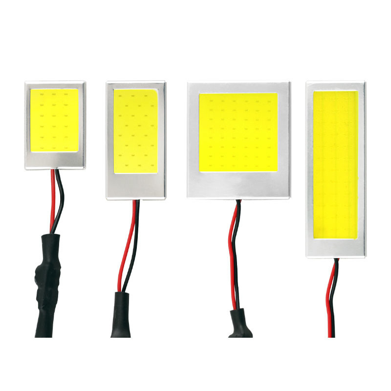 1PCS W5W T10 C3W C5W C10W BA9S Festoon LED COB LED Panel Dome Lamp Auto Car Interior Reading Plate Light Roof Ceiling Wired Lamp 2pcs white red blue t10 24 smd cob led panel car auto interior reading map lamp bulb light dome festoon ba9s 3adapter dc 12v led