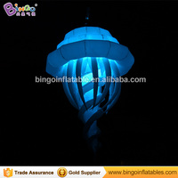 Free Shipping LED lighting inflatable Jellyfish 2 meters customized hanging decorative Jellyfish for inflatable toys