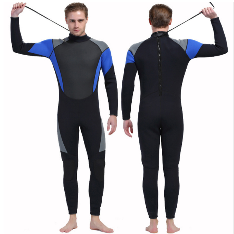 Outdoor diving thick jellyfish rubber warm winter swimming long sleeve conjoined man 3MM clothing Wetsuit