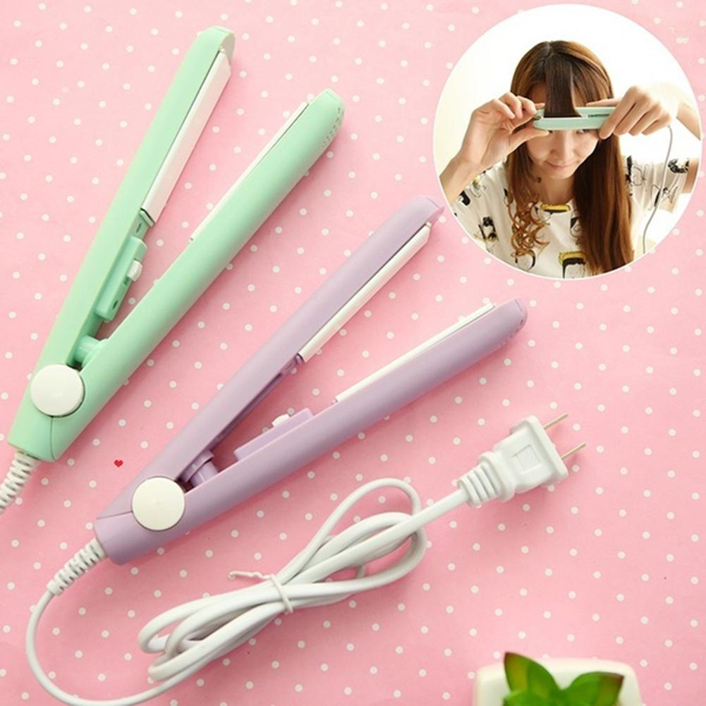 4 Colors Mini Ceramic Electronic Dual-purpose Perm Hair Curler Straightener  Styling Tools Hair Curler Mini Hair Straightener