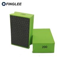 Finglee Diamond Hand Polishing Pad 90*55mm Foam Backed Glass Stone Ceramic Tile Grinding Abrasive Pads
