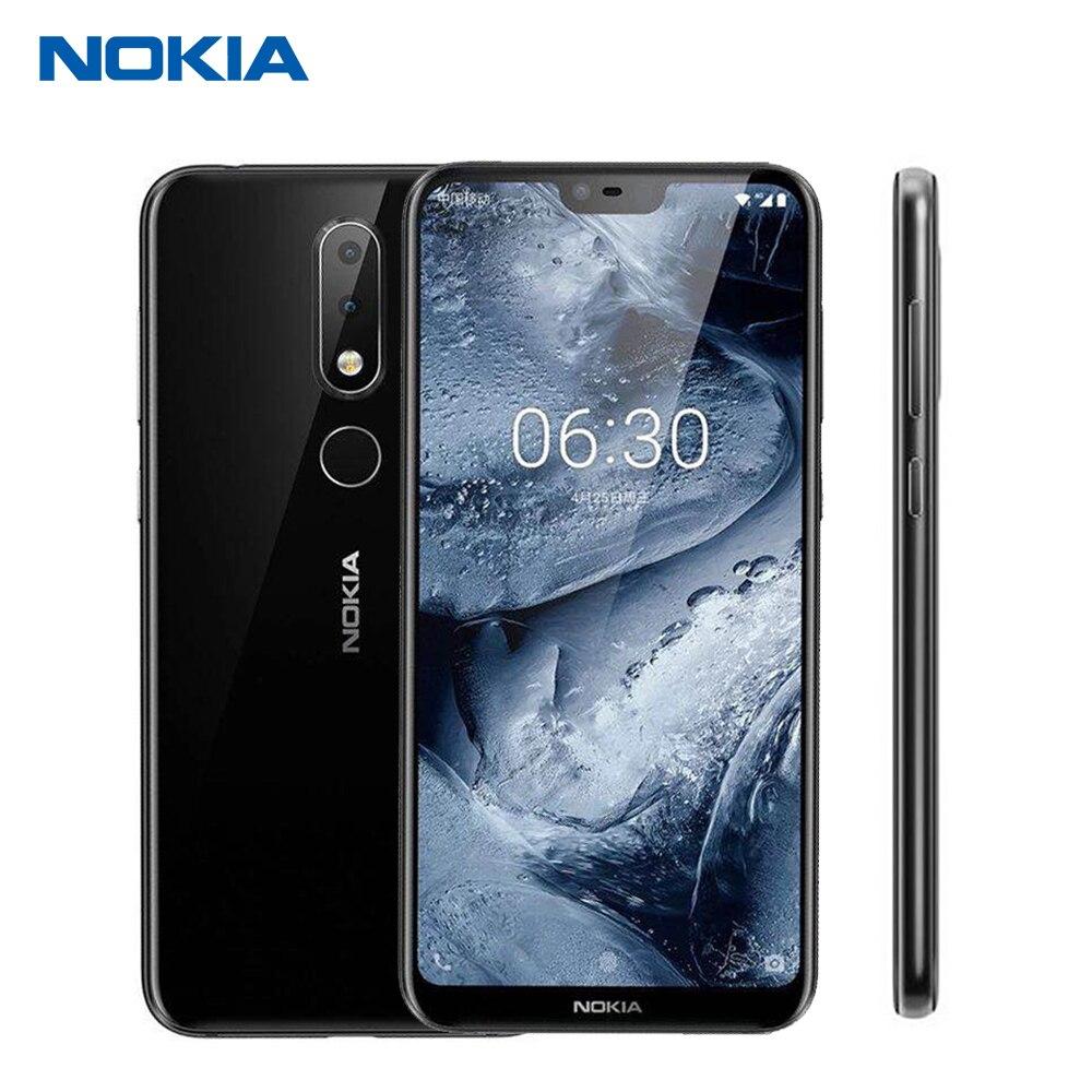 Nokia X6 32g 64g 4g 6g Mobile Téléphone 5.8 Snapdragon 636 Octa Core Double Arrière caméra Android 8.1 D'empreintes Digitales
