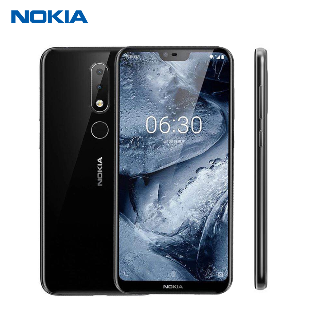 Nokia X6 64G 4G 6G 3060mAh 16.0MP 3 Camera Dual Sim Android LTE Fingerprint 5.8 inch Octa Core Smart Mobile Phone