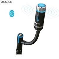 Drahtlose Bluetooth Car Kit FM Transmitter Freisprechfunktion Usb-ladeanschluss für iPhone IOS Android Smartphone Tabletten