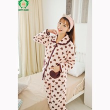 HAPPYISLAND font b Pyjama b font Femme Enceinte Winter Night Maternidade Breastfeeding Pajamas Camiso Maternidade Sleepwear