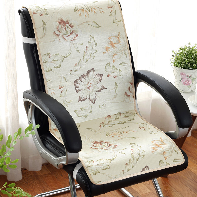 Simple Flower Print Chair Cushion For Summer Cool Feeling Back+Seat Cushion Mat Chair Multi Colors Cushions Pad For Office Home