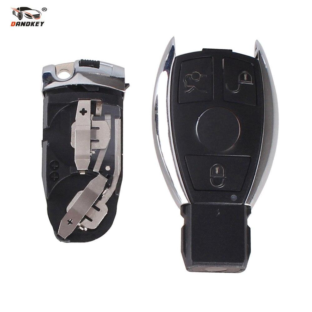 Housse de protection pour clé à distance 3 boutons Dandkey pour Benz W203 W210 W211 AMG W204 C E S CLS CLK CLA SLK coque de clé de voiture intelligente