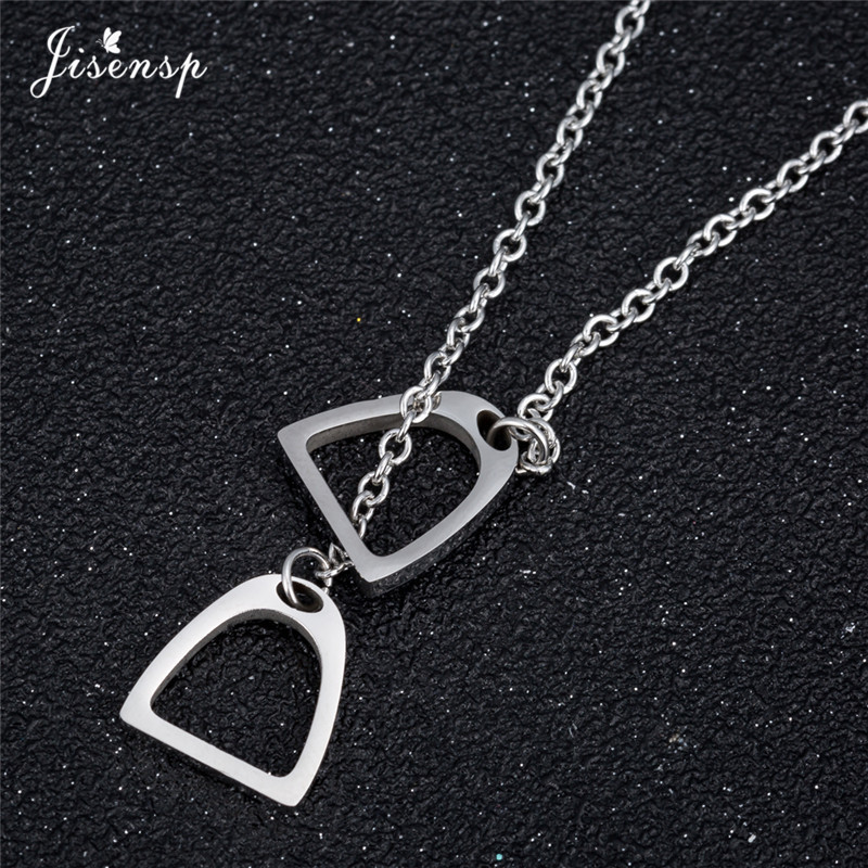 Jisensp Fashion Gold Color Horseshoe Necklaces Pendants for Women Jewelry Birthday Lovely Horse Hoof Necklace Chain Gift 9