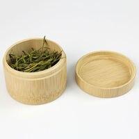 Round Bamboo Fresh Tea Pot Travel Portable Tea Storage Case Seal Packaging Gift Box Receives Handmade