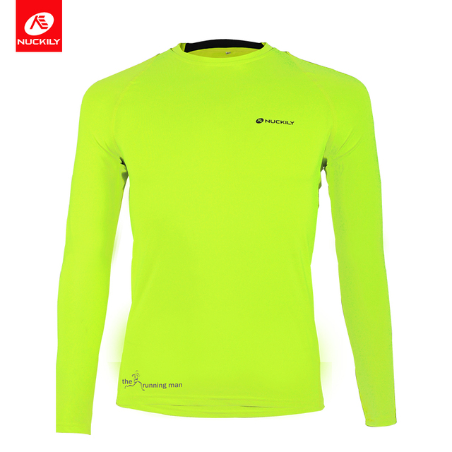 NUCKILY Long Sleeve Cycling Jersey Running Shirts Autunm Professional Sport  Wear Compression Shirt For Men MH010 cb8ccf07f