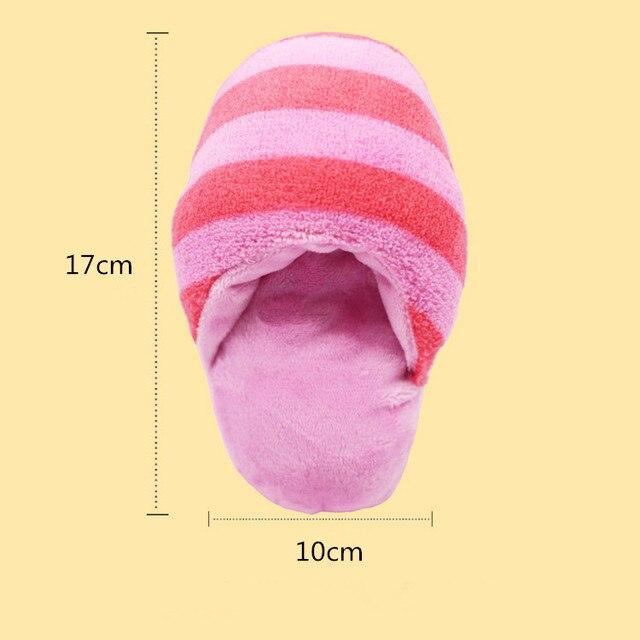 17*10 cm A Righe Cane Squeak Pantofola Giocattolo del Cucciolo del Gatto di Peluche Giocattoli di Masticazione Teddy Chihuahua di Formazione del Panno Morbido Giocattolo