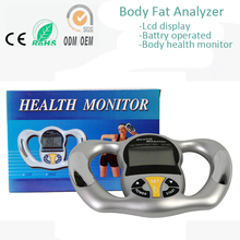 Free Shipping Household Home Use Hand Grasp Health Body Fitness Monitor Body Fat Composition Rate Analyzer Tester