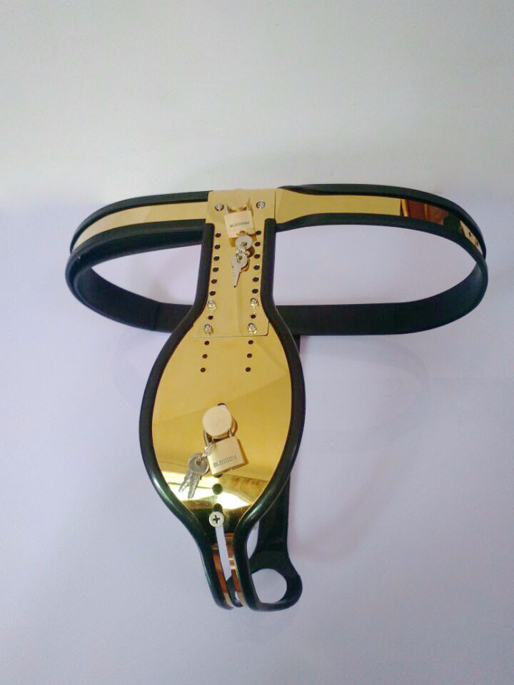 Sex tools for sale of new titanium golden T style male chastity belt device bdsm bondage harness sextoys adult games for men. kcchstar the eye of god high quality 316 titanium steel necklaces golden blue