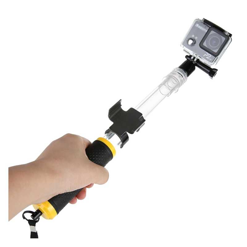 Floating Extension Pole for GoPro 1 2 3 3+ 4 SJCAM Cameras(Transparent)