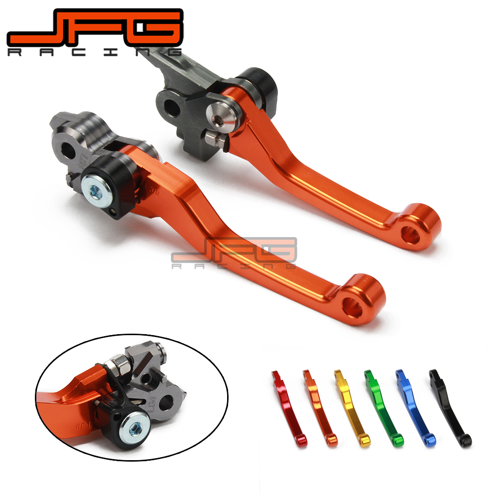 CNC Pivot Foldable Clutch Brake Lever For KTM EXC 125 14 15 2016 SX 144 SX144 SX125 SX150 150 XC 200 XCW EXC200 XC200 2014 2015 for ktm 125 150 200 144 450 505 sx r sx f sx xc exc motorcycle dirt bike off road cnc pivot brake clutch lever