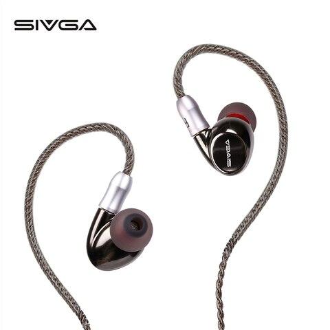 Drivers com Fio Estéreo com Cancelamento de Ruído Fones de Ouvido Esportivos com 3 Bicos + 2 Sivga Dual Hi-fi Substituir Destacável Mmcx Sm001