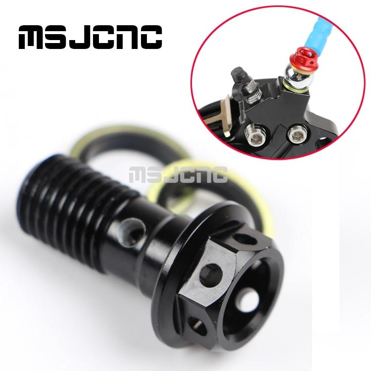 Motorcycle Brake Bearing Screw brake pump screw oil cooler refires screws 10 x 1.25 aluminum screws For Yamaha Honda Kawasaki