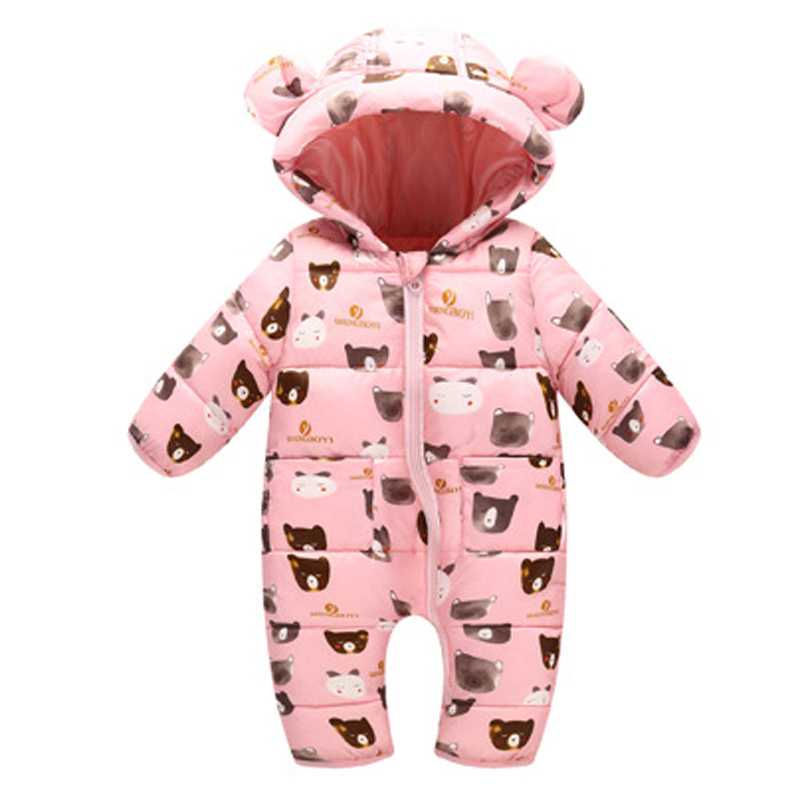 Winter Baby Rompers Overalls Clothes Jumpsuit 3-24 Mouth Newborn Girl Boy Duck Down Snowsuit Kids infant Snow Wear onepiece