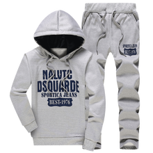 Fall 2017 new men s fashion boutique printing slim leisure hoodies Sweatshirts casual pants Male Sets