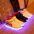 Мужская Повседневная Led Обувь Способа Высокого Качества Легкие Ботинки Женщин Мягкий Comforrtable Mujer Zapatos USB Танцевальная Обувь Sapato Feminino