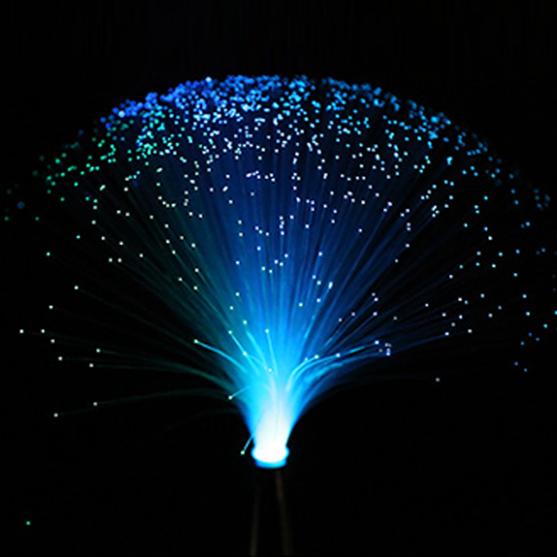 Color Changing LED Fiber Home Decoration Optic Nightlight Lamp Chrismas Party Romantic Small Night Light Beautiful