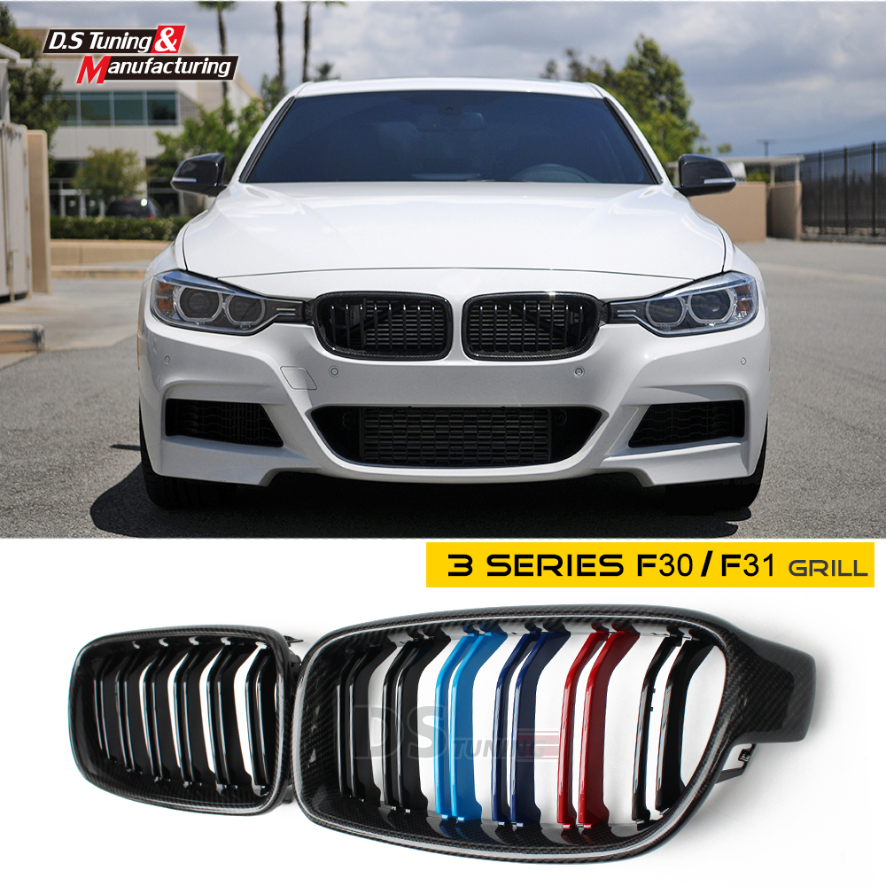 F30 f31 replacement carbon fiber hood grille for bmw 318i 320i 328i 330i 335i 340i 2012