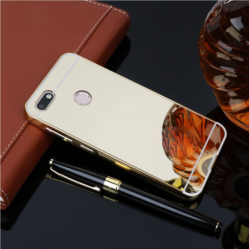 For Fundas OPPO F5 Case Aluminum Metal Frame Bumper Plastic Back Cover For Coque OPPO F5 Youth Case A73 A73T Mirror Phone Cases