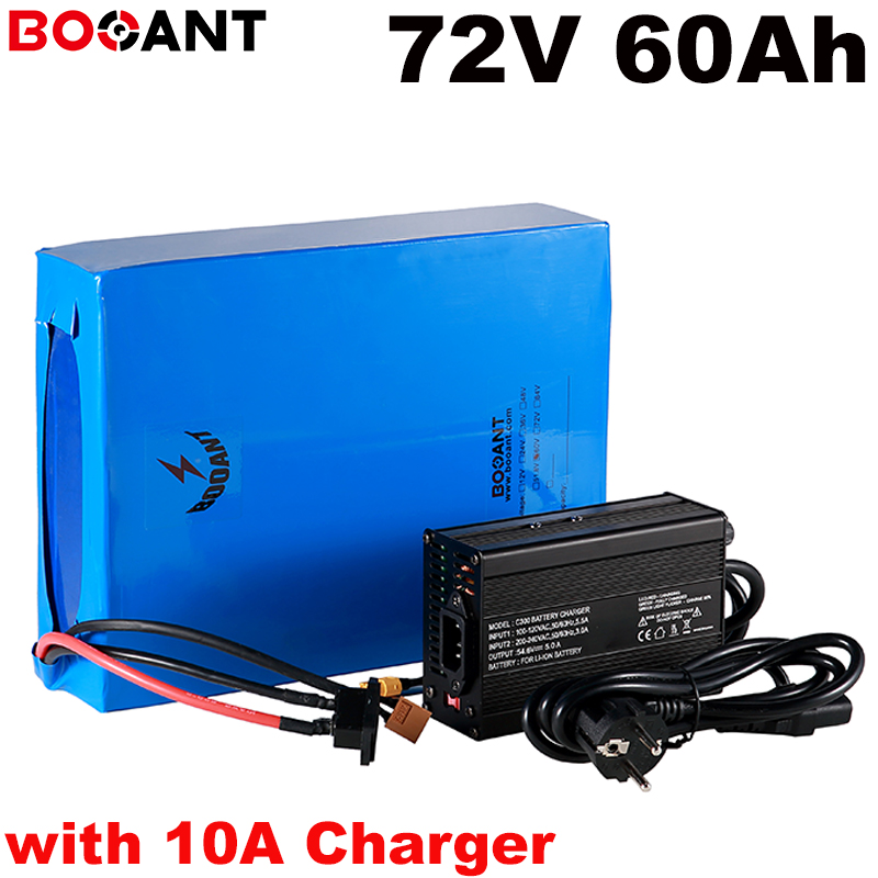 20S 20P <font><b>72v</b></font> <font><b>60ah</b></font> rechargeable lithium <font><b>battery</b></font> <font><b>72v</b></font> 5000w electric bike scooter <font><b>battery</b></font> for Samsung 30B 18650 +10A Charger image