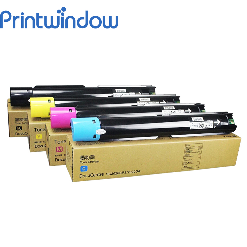 Printwindow Compatible Toner Cartridge for Xerox DocuCentre SC2020CPS SC2020DA 4X/Set for fuji xerox color laser printer sc2020 toner cartridge toner reset for fuji xerox docucentre sc2020 sc2020cps sc2020da copier