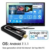 NOUVEAU H96 Pro Mini PC Android 7.1 Smart TV dongle Amlogic S912 Octa Core 2G + 8G/16G H.265 KOD 4 K petit Media Player