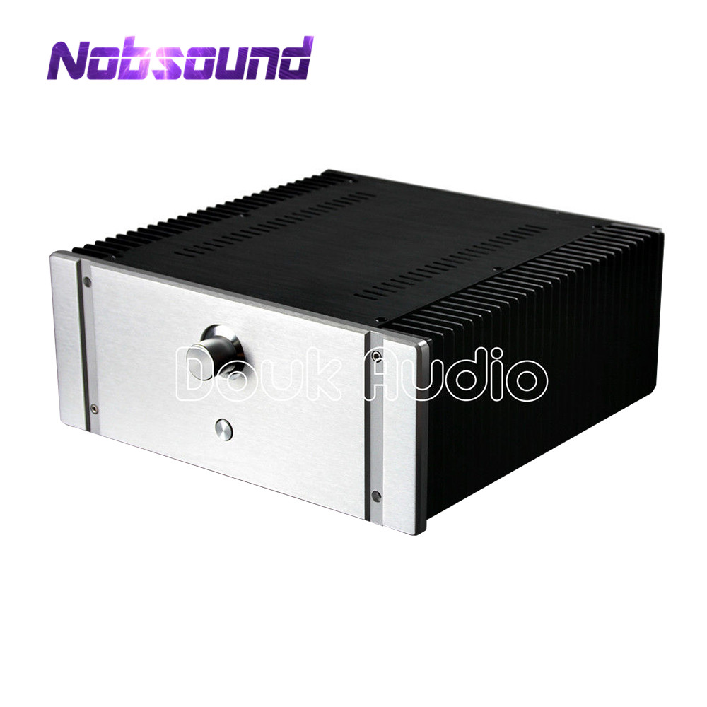Nobsound Aluminum Chassis Class A Power Amplifier Case DIYER Cabinet Enclosure nobsound hi end audio noise power filter ac line conditioner power purifier universal sockets full aluminum chassis