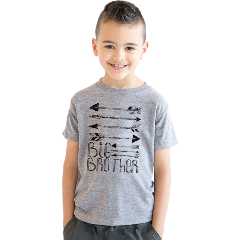 CT0008 Arrows Big Brother Baby and Toddler Child Clothing Short Sleeve Casual Tees ...
