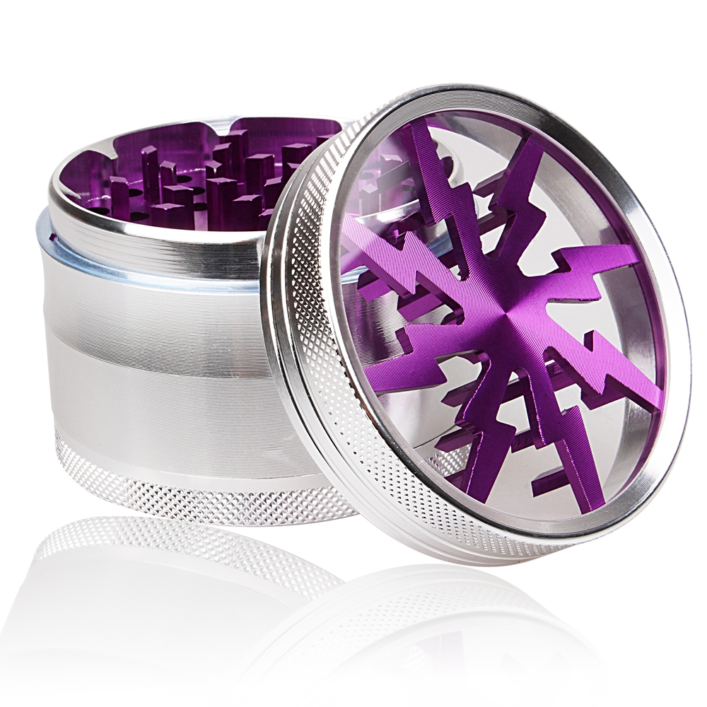 """Details about  /2 3//4/"""" PURPLE Plastic 2 Piece Tobacco Herb Made in the USA Spice Grinder"""