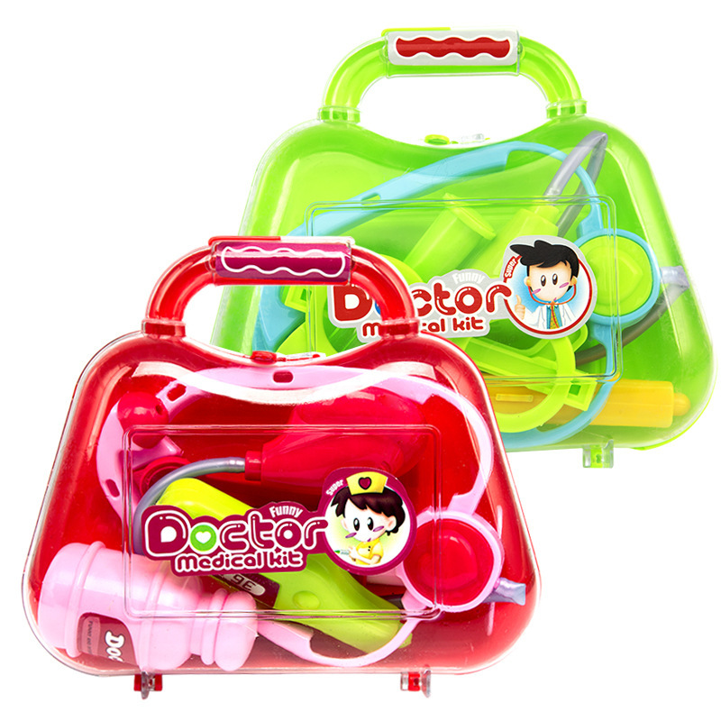 Spot Explosion Children's Play House Puzzle Simulation Medicine Box Doctor Set Toys Little Doctor Play Game