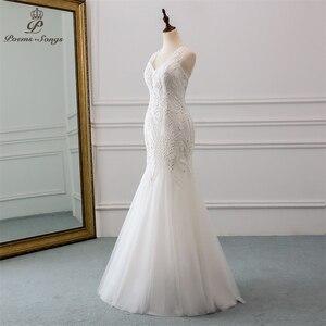 Image 2 - New beautiful sequined lace wedding dress 2020robe mariage  Vestido de noiva Mermaid wedding dresses for wedding  robe de mariee