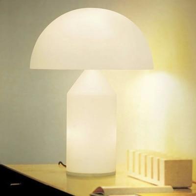 Haute qualité italie mode classique verre champignon lampe de Table chambre salon hôtel Table lumières, bureau étude lampe