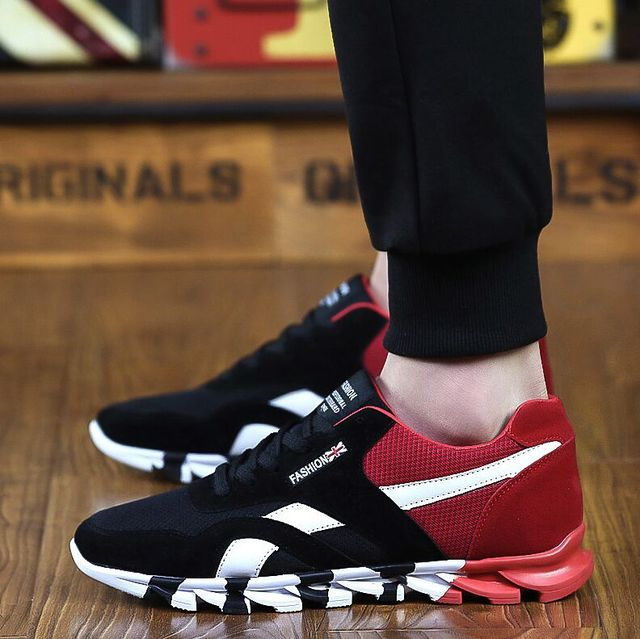Livraison Gratuite! 2017 Mode Hommes Casual Chaussures Printemps Automne  Hommes Formateurs Respirant Appartements Chaussures de ac44f800261