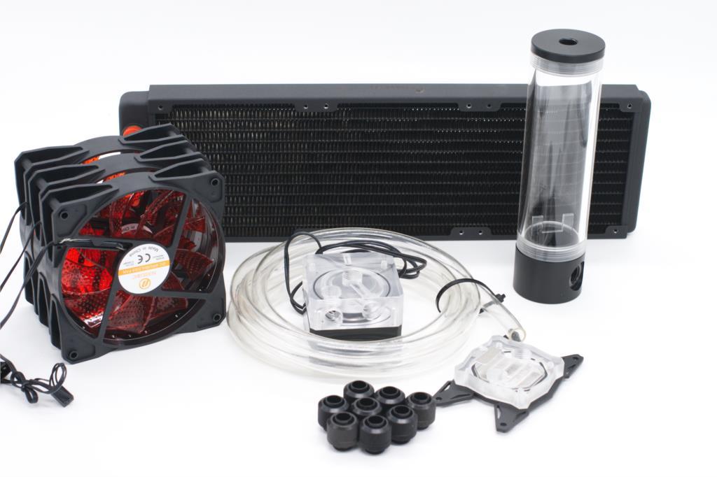 Bykski Water Cooling Kit for CPU Intel AMD 360mm Copper Radiator bykski water cooling kit for cpu rigid tube intel amd 360mm copper radiator